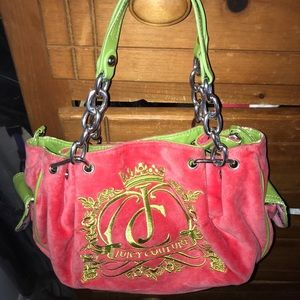Juicy Couture LIMITED ADDITION Pink and Green Bag